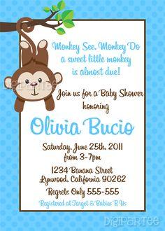 Sock Monkey Invites with luxury invitation example