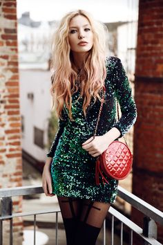 Dress, Tights, Boots, Bag | It's something unpredictable, but in the end it's right. (by Lina ♡) | LOOKBOOK.nu