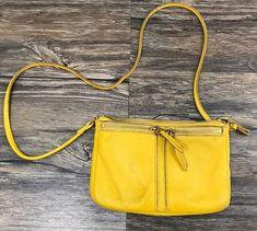 Fossil Purse Crossbody Leather Yellow*    eBay
