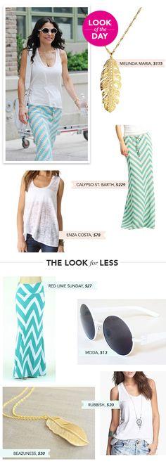 Look of the Day: Chevron-Print Summer Skirt   Bethenny.com