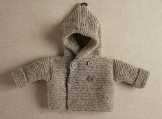 Hand knitted Unisex Baby Childrens Sweater by LittleBeauxSheep, $50.00