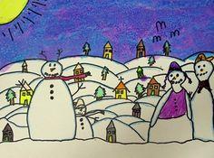 How C-U-T-E - love the use of space -- good way to do a fun lesson for the winter!