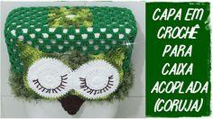 Capa para Caixa Acoplada em Crochê (Coruja)