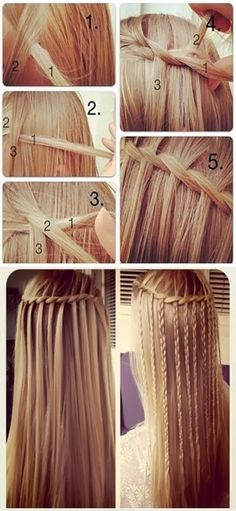 PinTutorials: How to Do a Waterfall French Braid #hair #style #hairstyle