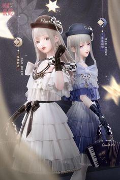 Anime Girl Crying, Anime Sisters, Nikki Love, Fantasy Girl, Anime Outfits, Anime Style, Designer Dresses, Harajuku, Dress Up