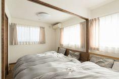 家族分のベッドが並ぶ仕切れる子ども部屋 #寝室 #igstylehouse #アイジースタイルハウス