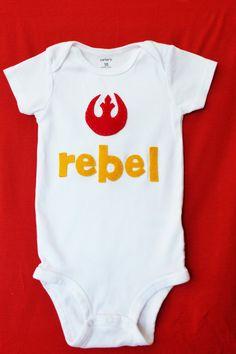 Rebel Alliance Star Wars Onesie by quarkbaby on Etsy, $20.00