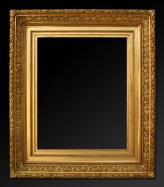old picture frames | French gilt frame in stucco barbizon style.
