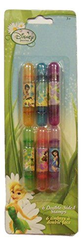 Disney Fairies Set of 6 Doublesided Stamps Dragonfly Butterfly Mushroom Hummingbird Flower Ladybug Tink  More * Check out this great product.