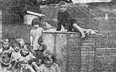 Children in Glenamaddy, in 1924, before The Home moved to Tuam, in County Galway where a mass infant grave was found.