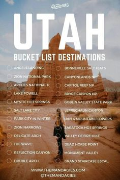 Utah bucket list destinations Utah bucket list destinations,US travel The Ultimate Road Trip To All 5 Utah National Parks. utah travel tips for southwest us outdoor vacation Related posts:DAS sind die 9 schönsten Roadtrips. Pacific Coast Highway, Death Valley, Arches Nationalpark, Nationalparks Usa, Travel Picture, Utah Vacation, Vacation Ideas, Vacation Checklist, Greece Vacation