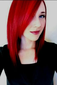 Bright red hair.