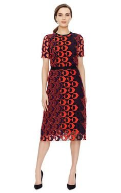 Shop Red Purple A-Line Skirt by Derek Lam Now Available on Moda Operandi