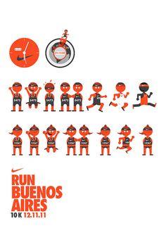 Ilustraciones Nike 10k by javier reboursin, via Flickr