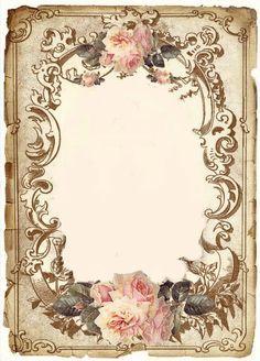Vintage flowers frame graphics fairy 62 new Ideas Blog Vintage, Vintage Diy, Vintage Crafts, Vintage Labels, Vintage Ephemera, Vintage Paper, Vintage Images, Vintage Postcards, Motifs Islamiques