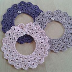 Col Crochet, Crochet Lace Collar, Basic Crochet Stitches, Crochet For Kids, Crochet Baby Boots, Newborn Crochet, Crochet Hairband, Crochet Necklace, Baby Knitting Patterns