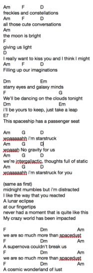 Dodie Clark's song freckles and constellations.