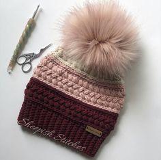 Crochet Beanie Pattern, Crochet Patterns, Hat Patterns, Knitted Hats, Crochet Hats, Crochet Blankets, Swatch, Fabric Tape, Hand Crochet