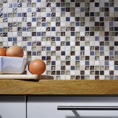 Athens Beige Glass/Stone Mix Mosaic 15x15mm Buy Now At Horncastle Tiles For Lowest UK Prices!