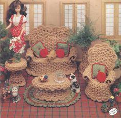 90s The Veranda Crochet Doll Furniture for Barbie by CloesCloset