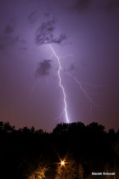lightning and clouds