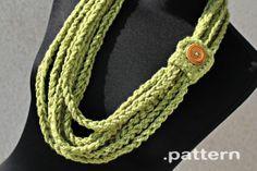 Crochet chain scarf.