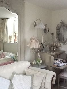 Grey Gray Matters, Favorite Color, Oversized Mirror, Shabby Chic, Rooms, Interiors, Space, Grey, Inspiration