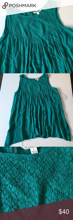 """NWT Jade Peasant Tank Brand new with attached tags. Feels like linen, material is 100% rayon though. Oversized size small. Measures 19"""" armpit to armpit and 26"""" shoulder to hem. RETAIL $40. PRICE IS FIRM. Tantrum Tops Tank Tops"""