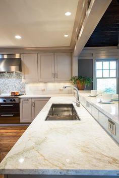 taj mahal quartzite counter top Woodacres - traditional - kitchen - dc metro - Aidan Design
