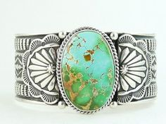 High Grade Natural Royston Turquoise Gem Bracelet by Sunshine Reeves, Native American Bracelet for $965.00 | Native American Jewelry