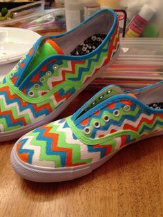 DIY colorful canvas shoes