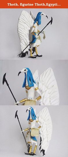 Thoth, figurine Thoth,Egyptian God Thoth,statue of Djehuty,the sculpture of The Egyptian God,doll,toy,djehuty. One or Thoth, in Egyptian mythology, the God of the moon, wisdom, and writing, patron of the Sciences, scribes, of the sacred books, the Creator of the calendar. Wife of Thoth was considered the goddess of truth and order, Maat. The sacred animal of Thoth was the IBIS and the baboon, and therefore God was often depicted as a man with the head of an IBIS, sometimes with papyrus and…