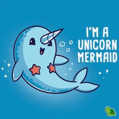 Narwhals are the unicorns of the ocean. + #TeeTurtle #Narwhals #Unicorns