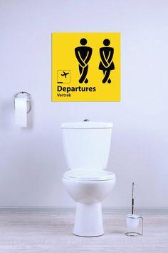 Fleur je toilet wat op met dit gave Airpart bord voor het kleinste kamertje van het huis! www.airpart.nl #woondecoratie #wooninspiratie