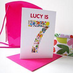 Personalised Child's Birthday Card