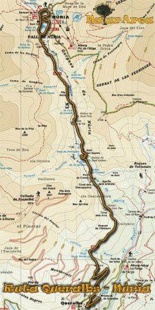 mapa Queralbs-Vall de Núria