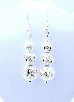 f2b53f04e womens shiny hollow ball 2.25 inch hook dangle earrings 925 sterling silver   Unbranded  DropDangle