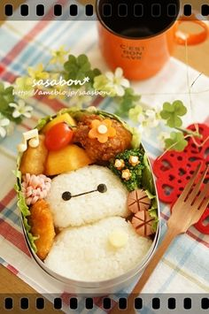 Kawaii!!!! A Big Hero 6 bento! It's too cute to eat!