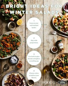 Warm spices, fresh herb blends, citrus, and hearty ingredients are just some of the keys to a delicious winter salad!