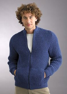 Knitting Patterns Galore - Marvel 12ply Fisherman Rib Jacket