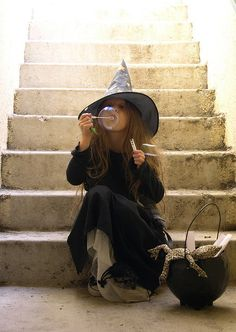 Little witch in training...