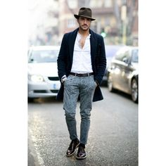 Men's Celebrity Street Style Discover what they Wear found on Polyvore featuring men's fashion