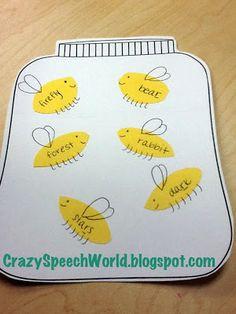 Crazy Speech World: Bug Jar Craftivity!