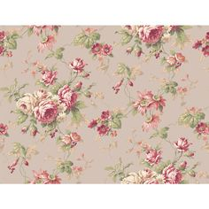Callaway Cottage Grey And Red Rose Floral Trail Wallpaper Wallpaper Wall Decor Home Decor