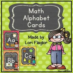 These Math ABC posters are perfect for the Elementary Classroom hung as an alphabet chart or bound together to make a Math Vocabulary Book. Just print these posters onto card stock and hang in your classroom to review common Math Vocabulary.