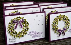 I love these stamp set Wondrous Wreath; it is so easy and wonderful!  Barbara Meyer
