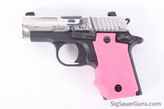 "Sig Sauer P238 ""Extra Special"" ...this is just like mine! Pretty in silver & pink!"