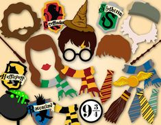 Instant Download Harry Potter Photo Booth Props by OneStopDigital