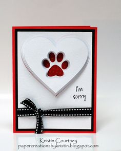 Paper Creations by Kristin: Pet Sympathy Cards
