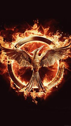 HUNGER GAMES MOCKINGJAY LOGO ART WALLPAPER HD IPHONE